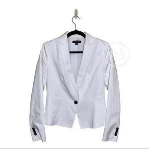 Ann Taylor Single Button White Blazer Suit Jacket